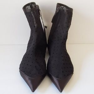 Zara flat mesh dotted boots. EU 36 US 6
